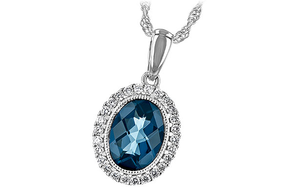 A198-46465: NECK 1.28 LONDON BLUE TOPAZ 1.41 TGW