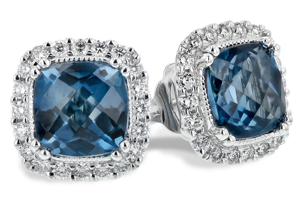 A198-46474: EARR 2.14 LONDON BLUE TOPAZ 2.40 TGW