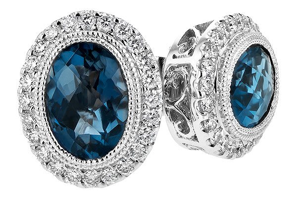 B198-46465: EARR 1.76 LONDON BLUE TOPAZ 2.01 TGW