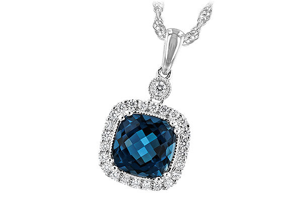 C198-46456: NECK 1.63 LONDON BLUE TOPAZ 1.80 TGW