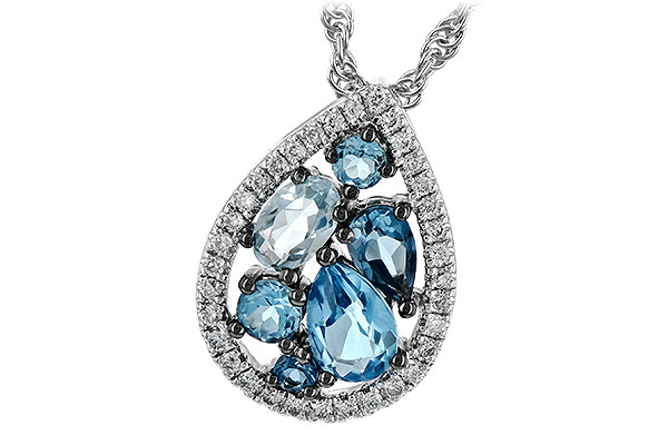 C198-51910: NECK 1.15 BLUE TOPAZ 1.30 TGW