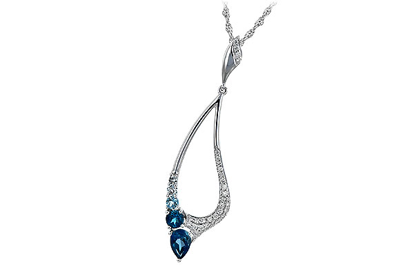 D198-51919: NECK .83 BLUE TOPAZ 1.00 TGW