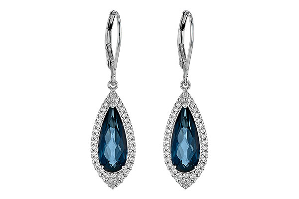 D199-37365: EARR 5.05 LONDON BLUE TOPAZ 5.42 TGW