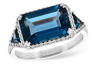 D199-38310: LDS RG 4.60 TW LONDON BLUE TOPAZ 4.82 TGW
