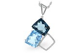 E197-61028: NECK 10.60 BLUE TOPAZ 10.73 TGW