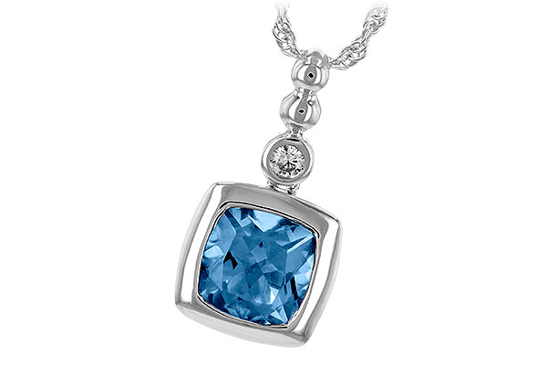 E198-50128: NECK 1.45 BLUE TOPAZ 1.49 TGW