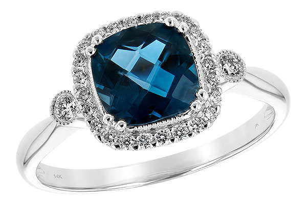 F198-46474: LDS RG 1.62 LONDON BLUE TOPAZ 1.78 TGW