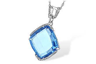 F198-47428: NECK 14.75 BLUE TOPAZ 14.90 TGW