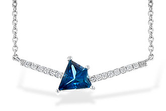 G199-42828: NECK .87 LONDON BLUE TOPAZ .95 TGW