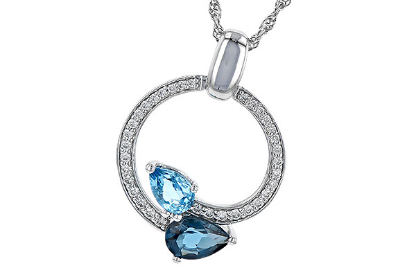 G199-42855: NECK 1.22 BLUE TOPAZ 1.40 TGW