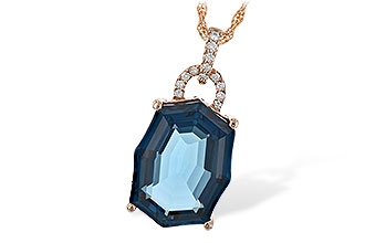 H198-53810: NECK 11.75 LONDON BLUE TOPAZ 11.85 TGW