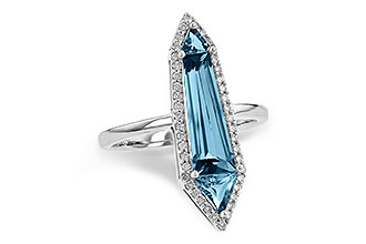 H199-37401: LDS RG 2.20 LONDON BLUE TOPAZ 2.41 TGW