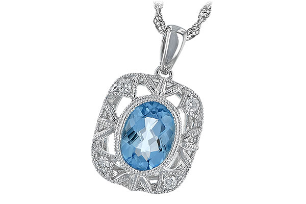 L198-48291: NECK 1.22 BLUE TOPAZ 1.30 TGW
