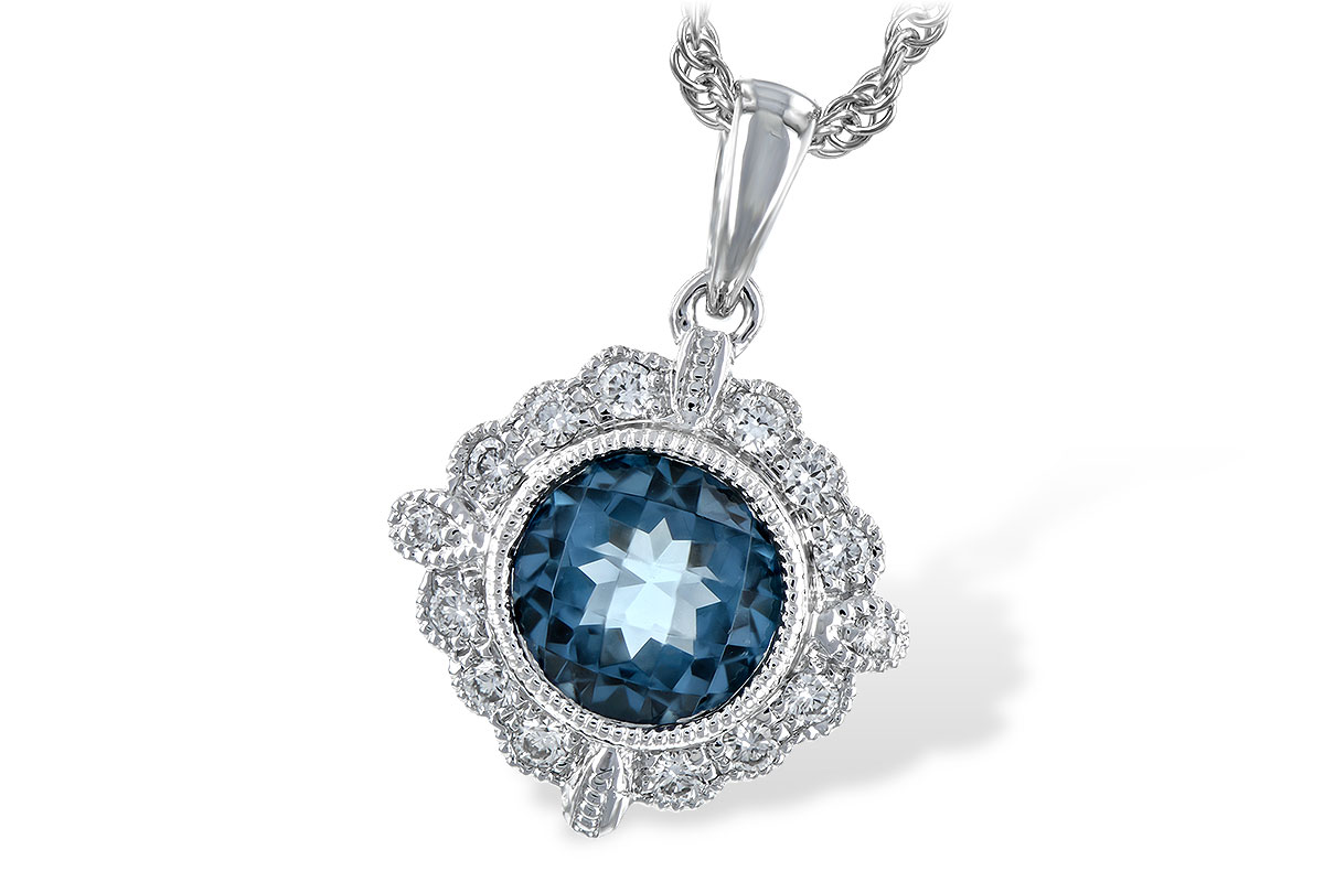 L198-48319: NECK .98 BLUE TOPAZ 1.10 TGW